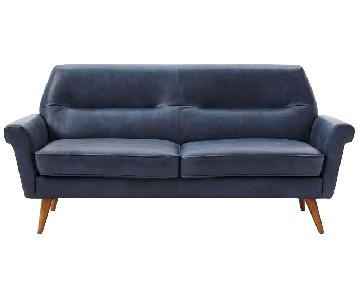 West Elm Denmark Leather Loveseat