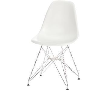 Mid Century Modern White Accent Chair