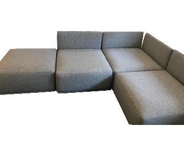 CB2 Grey Sectional Sofa
