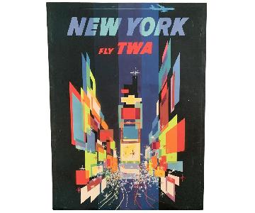 Retro TWA Ad on Canvas