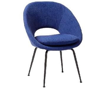 West Elm Orb Dinning Chair in Saphire