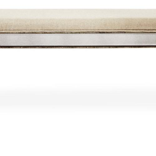 Horchow Noelle Mirrored Linen Bench