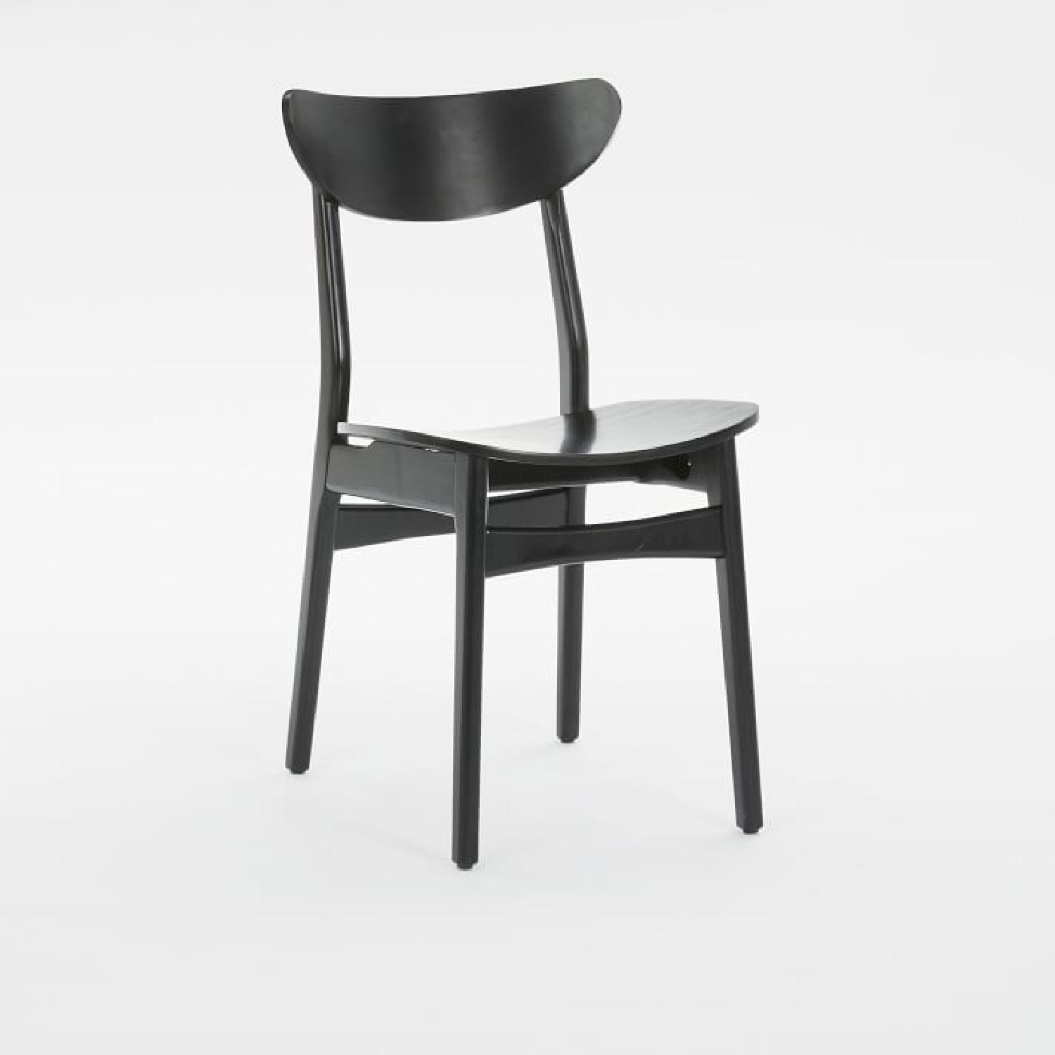 West Elm Classic Cafe Dining Chair in Black Lacquer - image-2