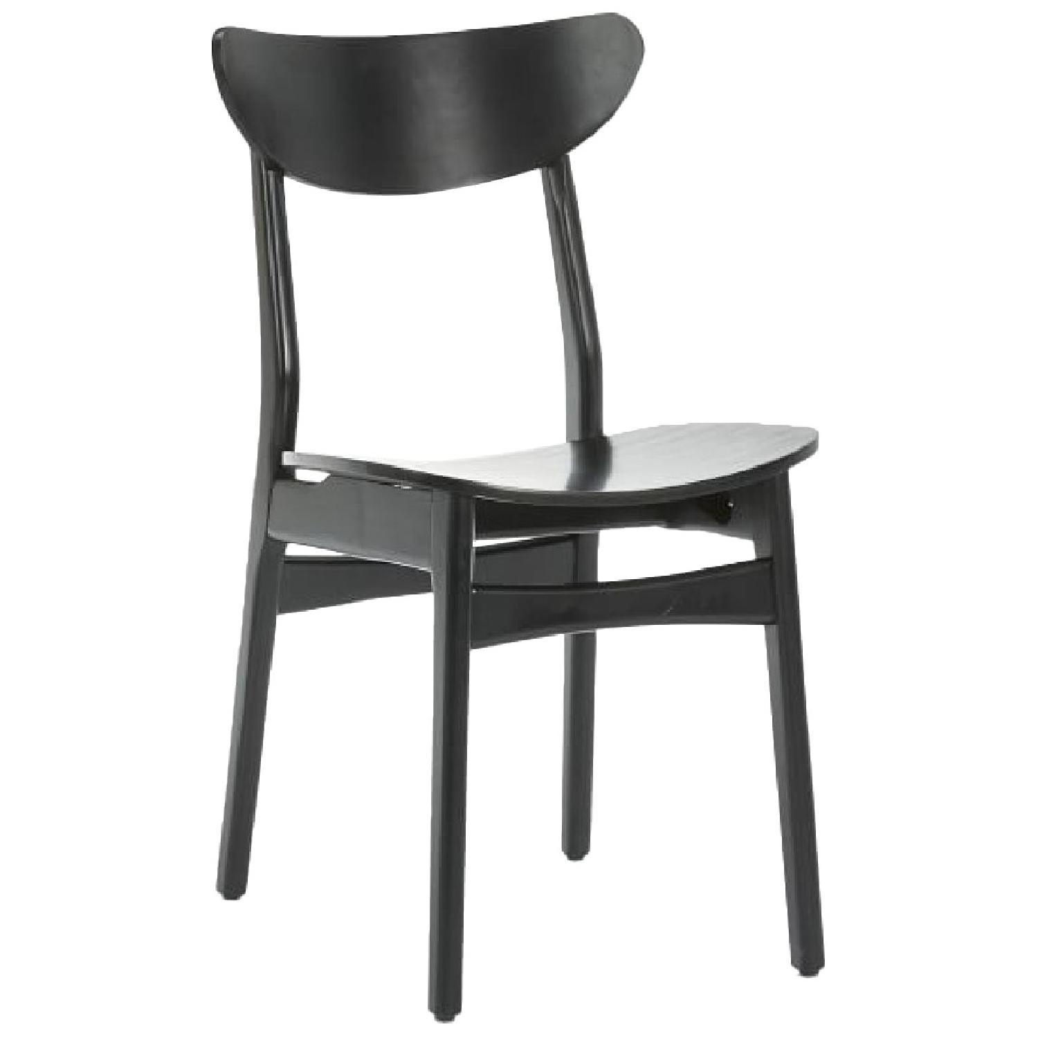 West Elm Classic Cafe Dining Chair in Black Lacquer - image-0