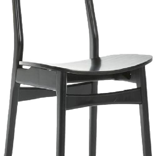 Used West Elm Classic Cafe Dining Chair in Black Lacquer for sale on AptDeco