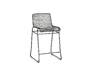 Crate & Barrel Tig Metal Counter Stools