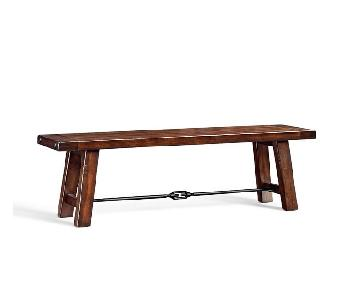 Pottery Barn Benchwright Dining Bench in Rustic Mahogany