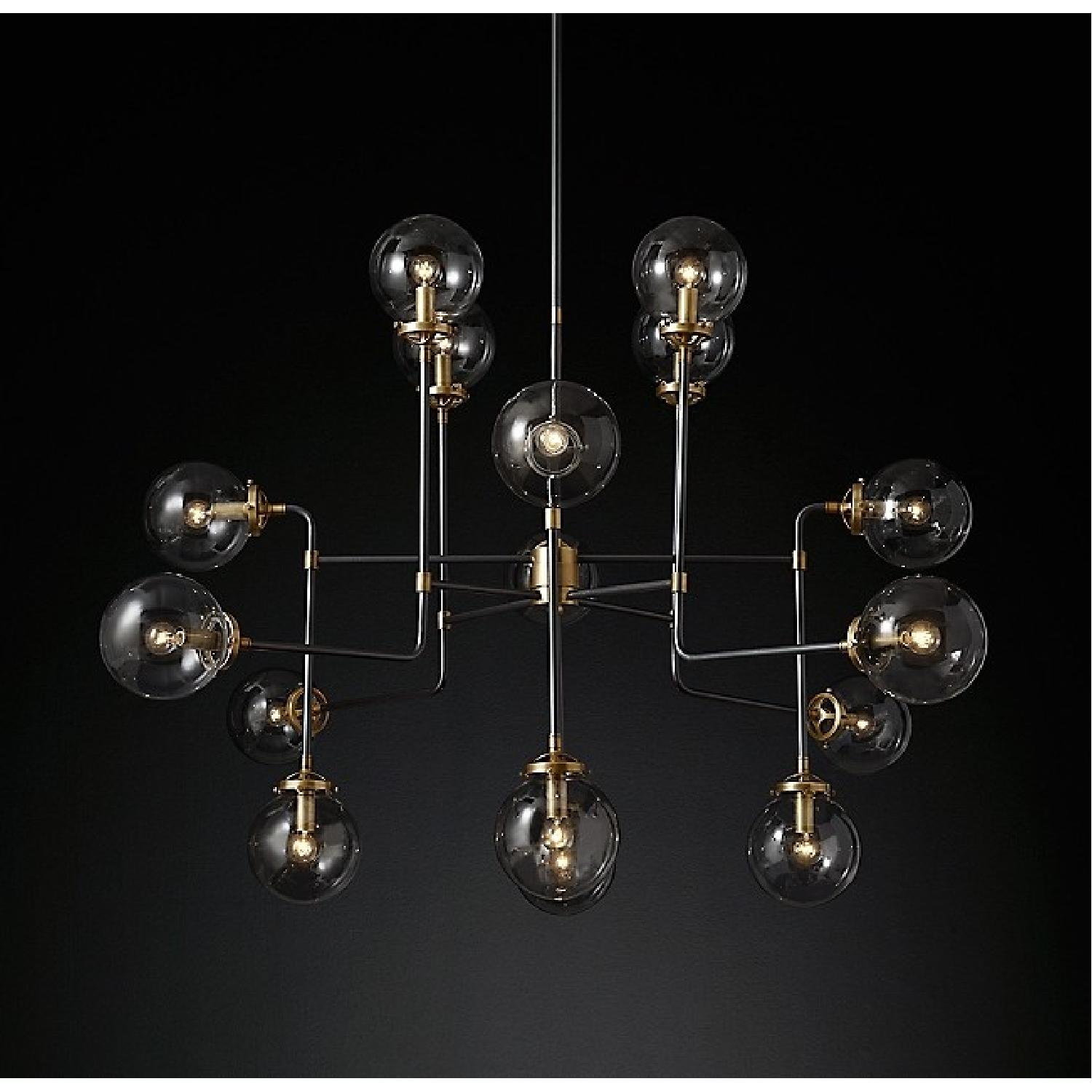 Restoration Hardware Bistro Globe 16-Light Glass Chandelier