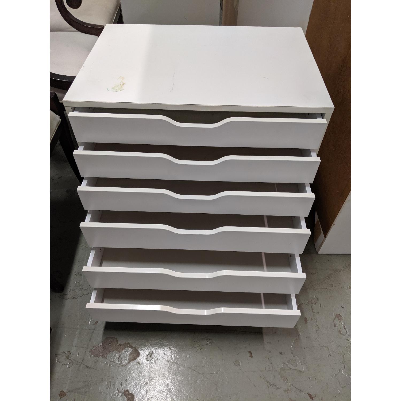 CB2 6-Drawer White Flat File Cabinet