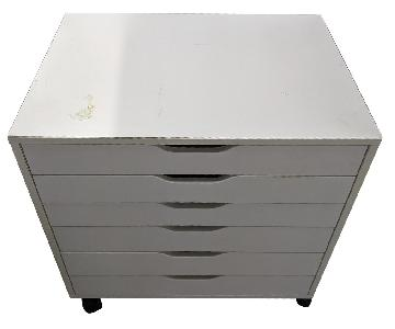 CB2 6-Drawer White Flat File Cabinet