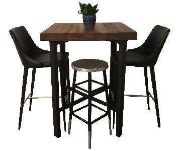 Pottery Barn Griffin Bar Table w/ 2 Stools