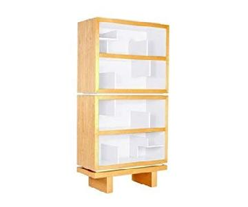 Nursery Works Storytime Double Bookcase in Light Ash