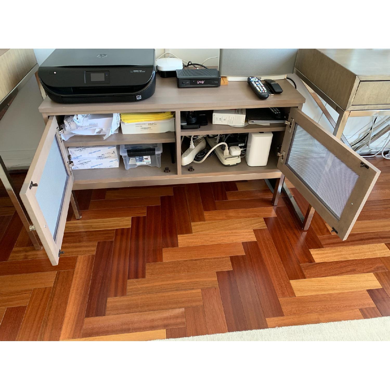Room & Board Maple Wood & Stainless Steel Media Cabinet