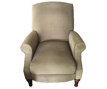 Apartment Size Recliner Chair in Sage Green Microsuede