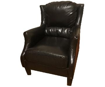 Bob's Leather Wingback Chair