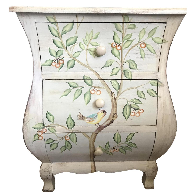 3 Drawer Nightstand w/ Hummingbird Pattern