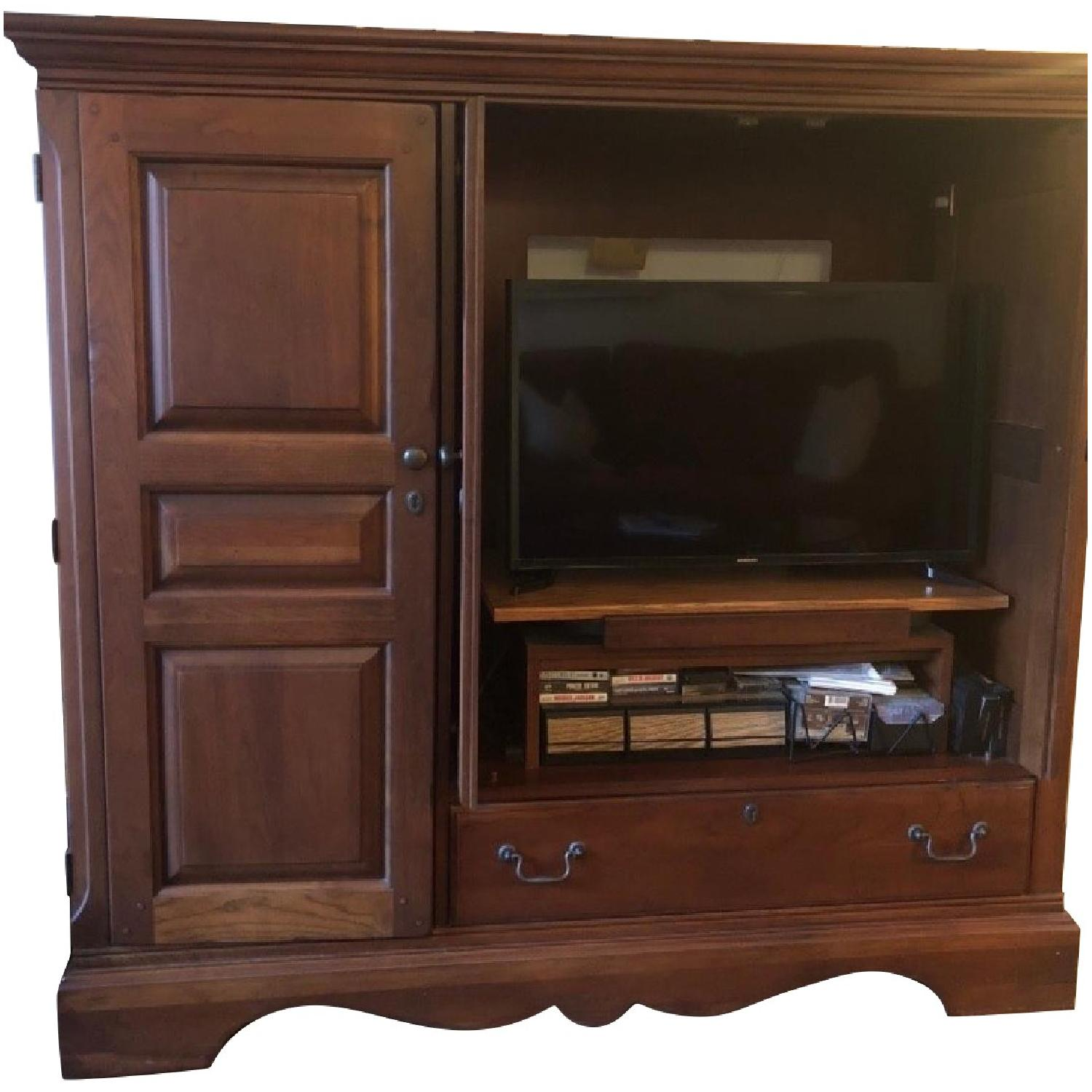 Ethan Allen Solid Wood Entertainment Cabinet