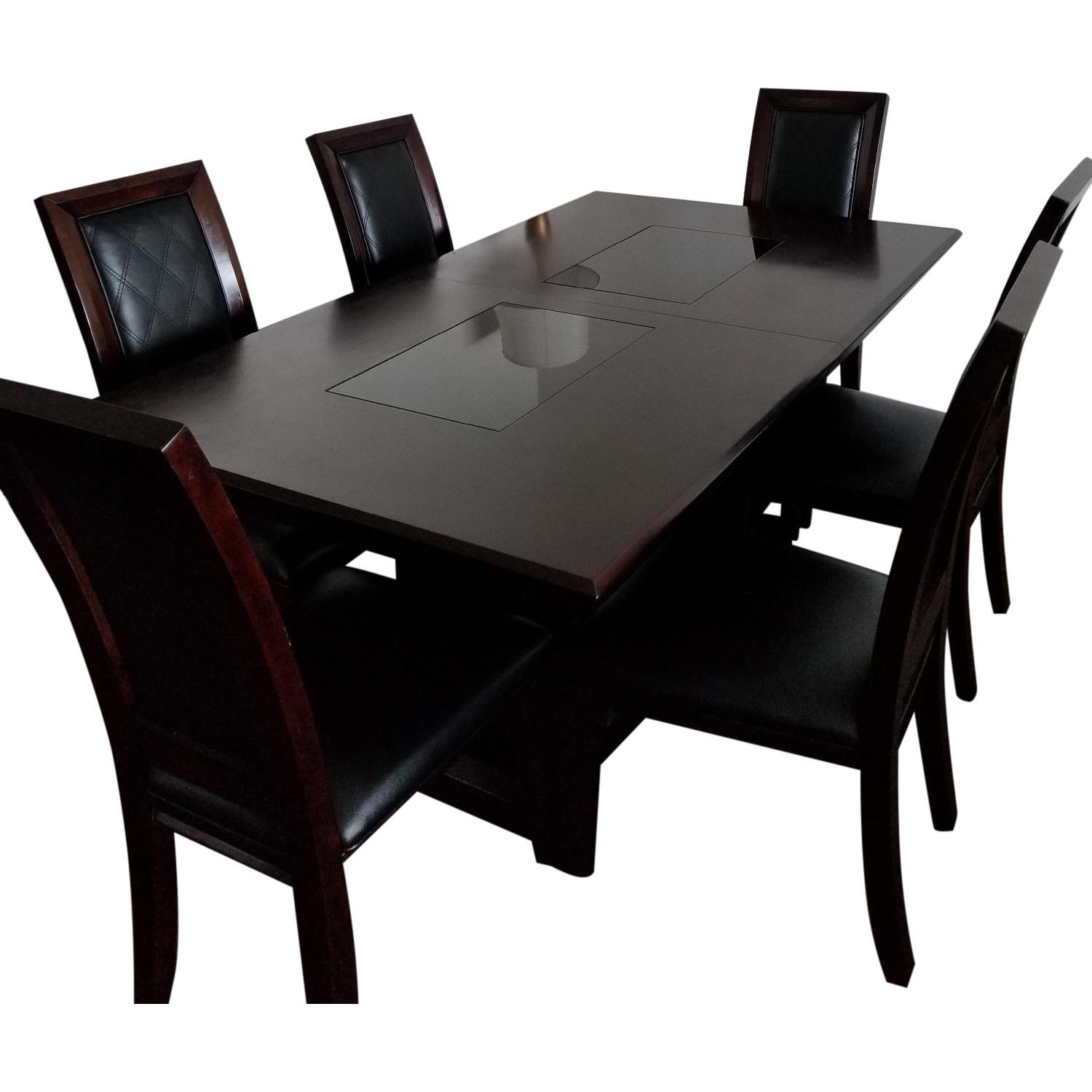 Raymour & Flanigan 7 Piece Cherry Dining Set