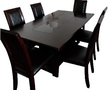 Raymour & Flanigan 7 Piece Cherry Dining Set