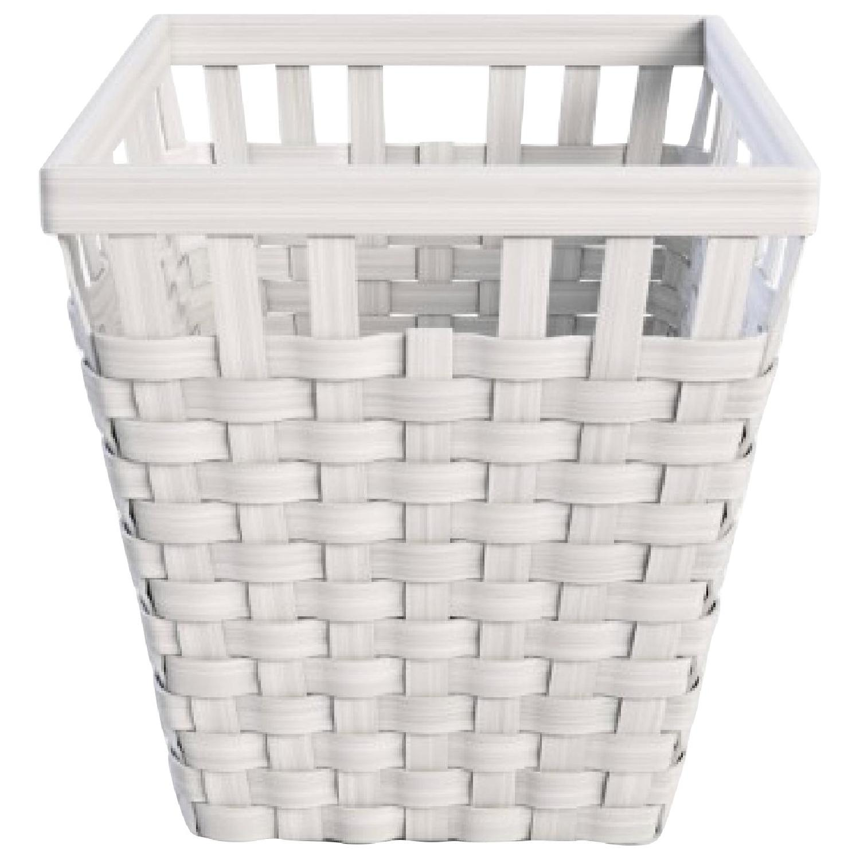 Ikea Knarra White Laundry Basket w/ Lid