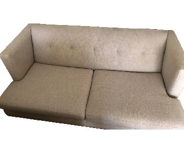 CB2 Avec Apartment Sofa w/ Brass Legs