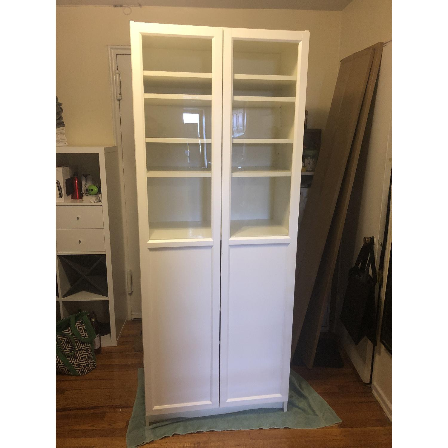 Ikea Billy Bookcase W Glass Doors