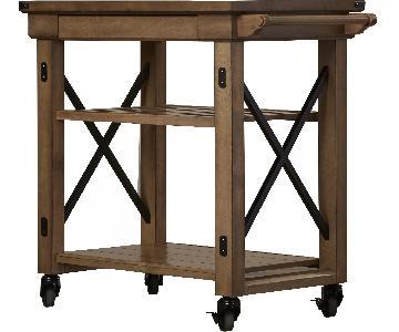 Laurel Foundry Gladstone Kitchen Cart w/ Wooden Top