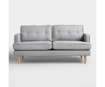 World Market Modern Style Dove Grey Sofa