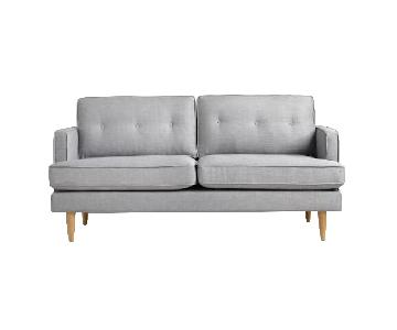 World Market Modern Style Dove Grey Sofa