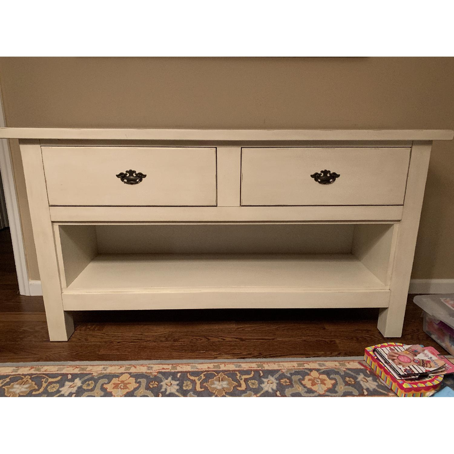 Pottery Barn 2 Drawer Credenza/Wine Rack