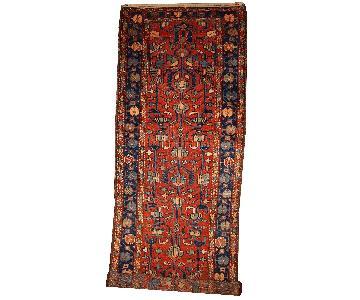 Antique Handmade Persian Lilihan Runner Rug