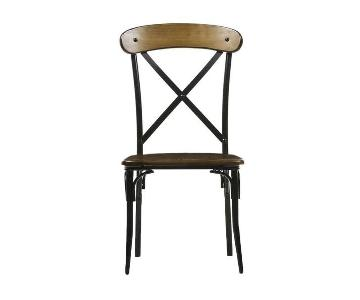 Baxton Studio Broxburn Wood & Metal Dining Chairs