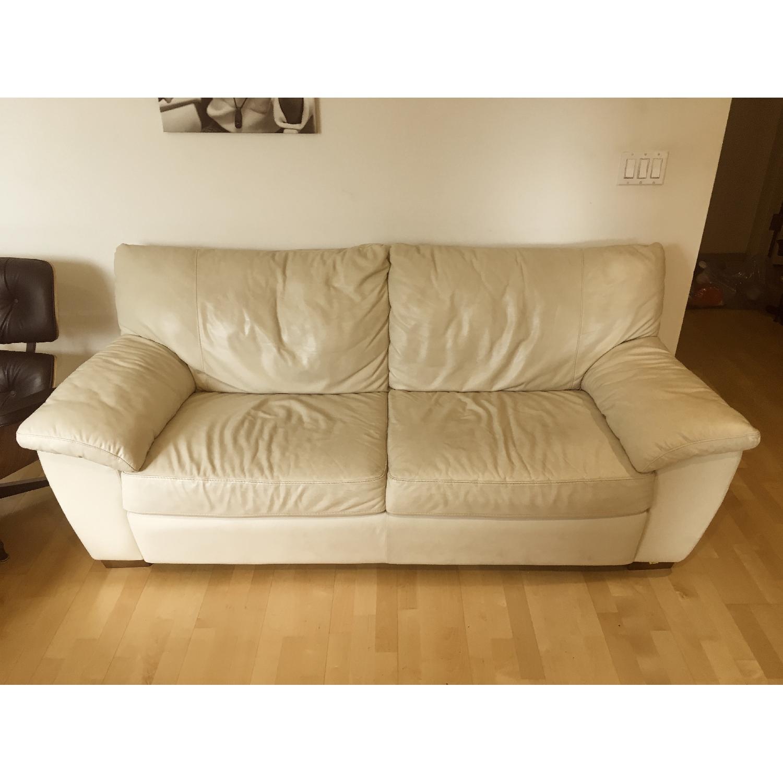 Ikea Vreta Leather Sofa