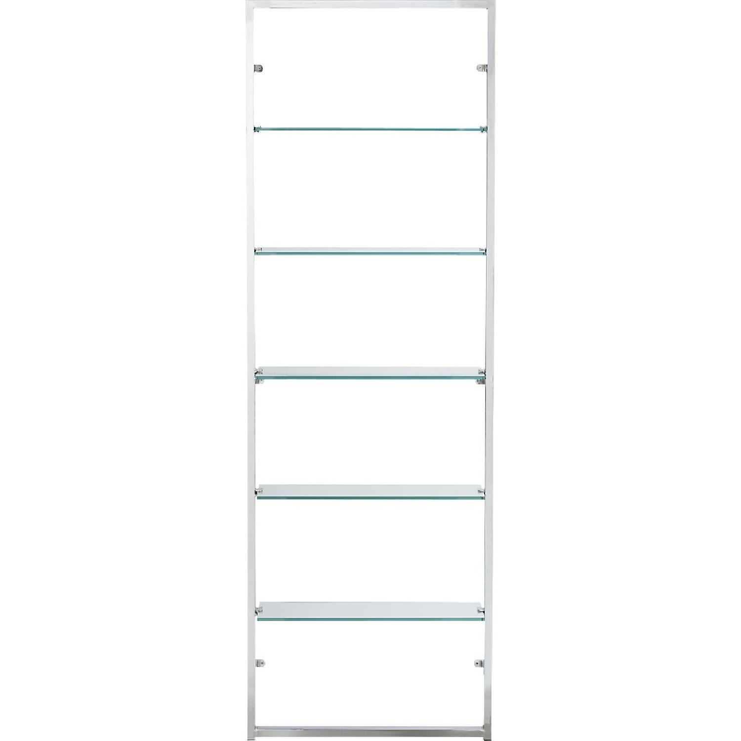CB2 Tesso Wall Mount Bookcase