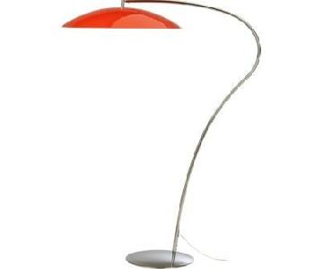 CB2 Atomic Red Lobster Floor Lamp