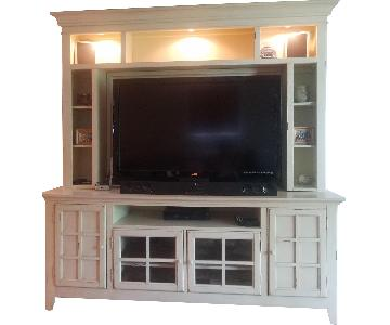 Distressed Off White Media Unit