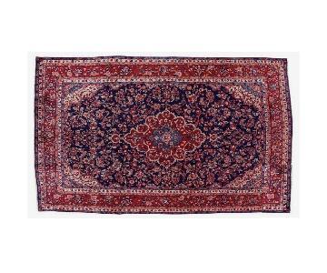 One Kings Lane Persian Saroyan Blue & Red Area Rug