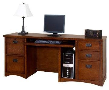 Martin Furniture Mission Style Computer Credenza
