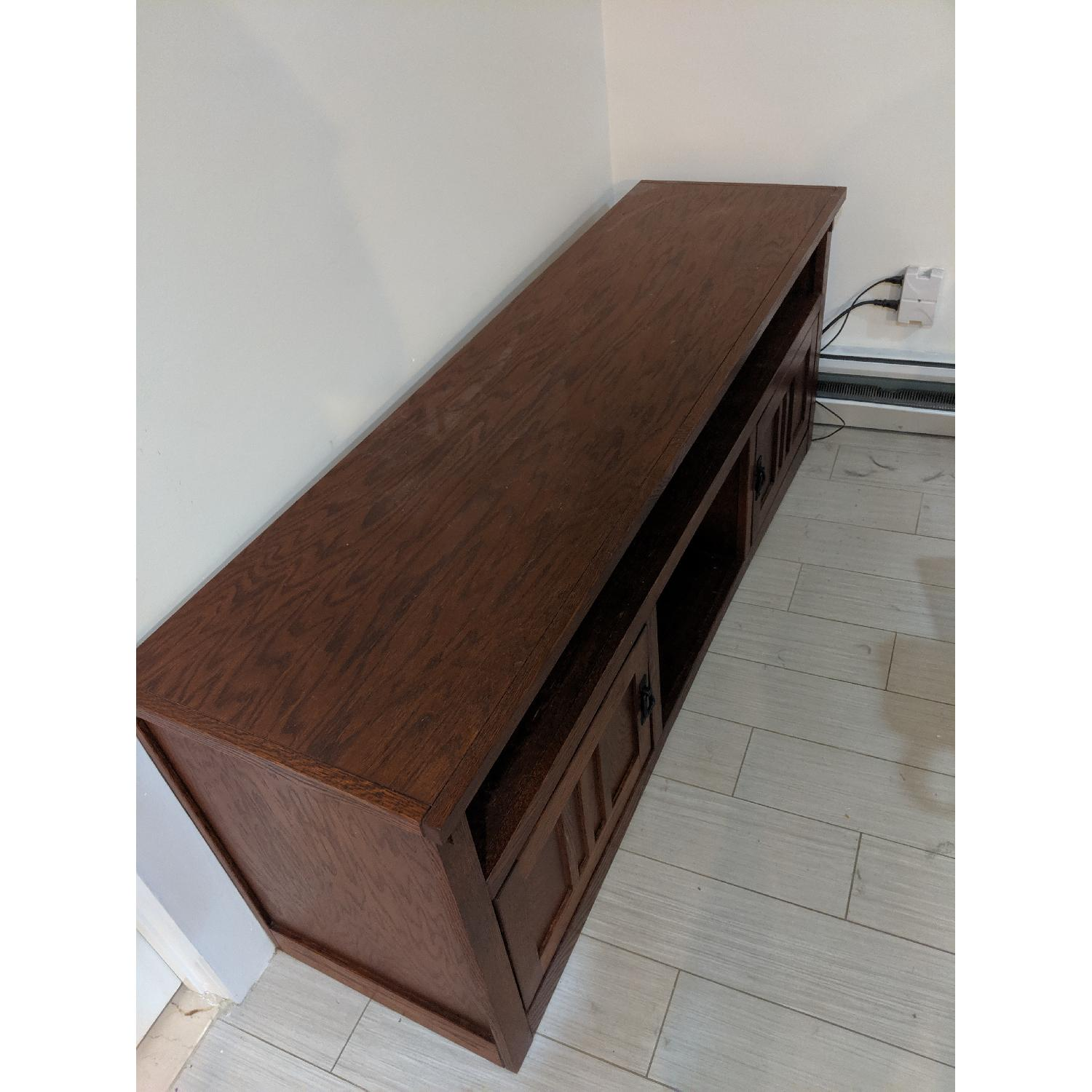 Ashley Cross Island Mission Style TV Stand