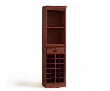Pottery Barn Mahogany Modular Bars w/ Wine Grid & Cabinet
