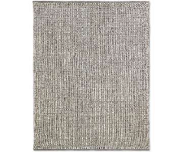 Restoration Hardware Rope Basket Weave Rug in Fog + Pad