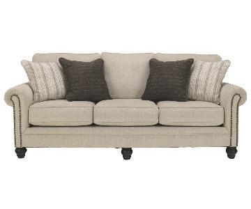 Ashley Milari Sleeper Sofa in Linen