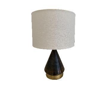 West Elm Metallic Gray Table Lamp