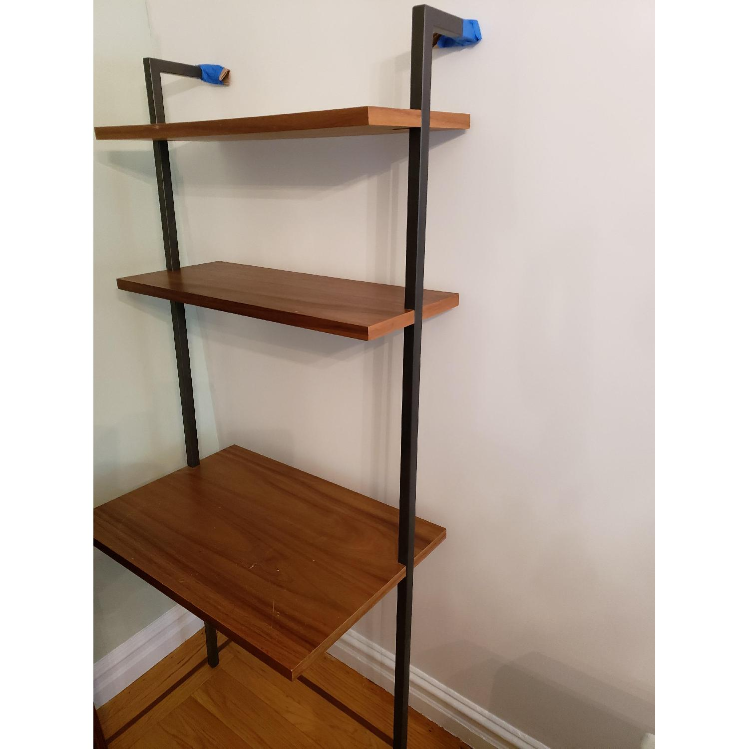 Helix Acacia Wall-Mounted Book Case