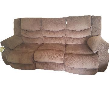 Ashley 3 Seat Double Leggett Power Recliner Sofa