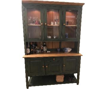 Ethan Allen Green China Cabinet