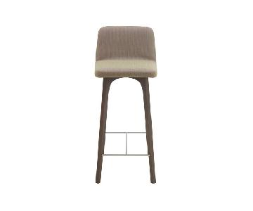 Ligne Roset Vik Gray Leather Stools