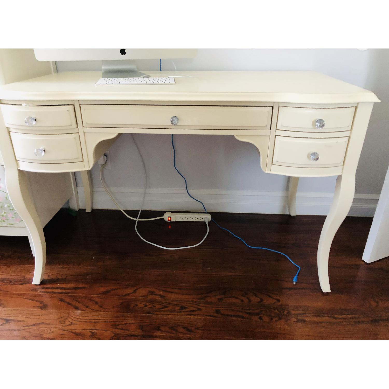 Pottery Barn Lilac Desk w/ Hutch - image-2