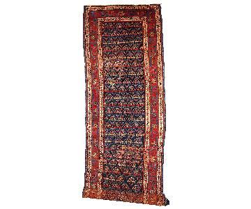 Antique Handmade Persian Kurdish Distressed Runner Rug