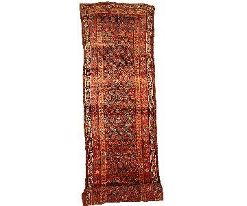 Antique Handmade Persian Kurdish Runner Rug